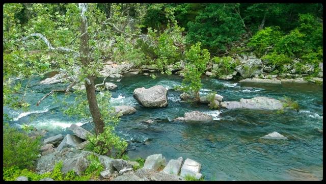 St. Francis River at Arcadia Valley, Missouri.